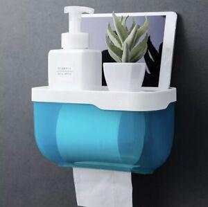 Toilet Paper Holder - Wall Mounted Waterproof Paper Holder Bathroom Paper Shelf