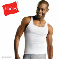 Hanes Mens 3 Pack White ComfortSoft Tank Top Undershirt All Sizes +Tall men