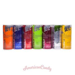 Energydrink-Mix:  12x MIX  RED BULL THE BLUE, RED & OTHER EDITIONS  (7,66€/l)