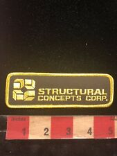 Vtg STRUCTURAL CONCEPTS CORP Advertising Patch 89H5