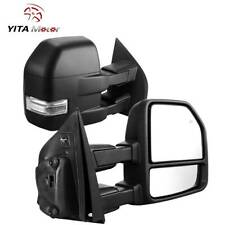 Yitamotor Towing Mirrors Power Heated Turn Signal 8-Pin For 2015-2018 Ford F150