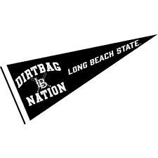 "Cal State Long Beach 49ers 12"" X 30"" Dirtbag Nation Pennant"