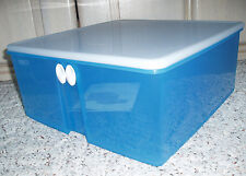 New~TUPPERWARE Fridgesmart Large Square Vented Container Cool Blue~34 Cup #4806