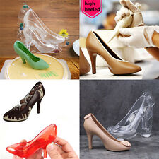 Baking Candy Suger Craft 3D Chocolate Mould Princess Crystal High Heel Shoes