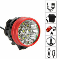 25000Lm 9x XML T6 LED Front Bicycle Bike Rechargeable Head Light Torch Headlight