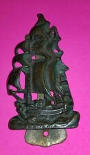 Vintage Brass Sailboat Nautical Lake  door knocker