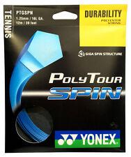 Yonex poly tour spin 16L/1.25mm raquette de tennis string-bleu