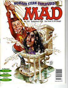Mad magazine #339 September 1995 Very Fine cond Howard Stern Star Trek Voyager