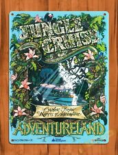 Tin Sign  Disney Jungle Cruise Adventureland Tokyo Attraction Ride Poster Art