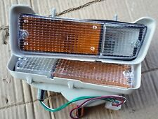 ISUZU KB20 KB25 UTE MODEL 1972 80 FRONT BUMPER TURN LIGHTS PAIR LEFT RIGHT NEW