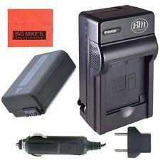 BM Premium NP-FW50 Battery & Charger for Sony NEX-3,C3,5,5K,5N,5T,7,6,F3