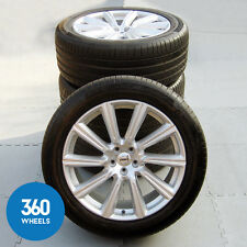 "GENUINE VOLVO 20"" XC90 10 SPOKE DIAMOND SILVER ALLOY WHEELS CONTINENTAL TYRES"