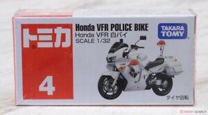 Takara TOMY Tomica # 4 Honda VFR Police Bike White Scale 1/32 Diecast Car