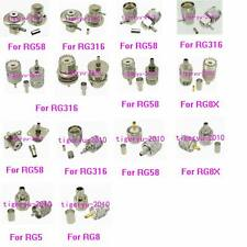 1pce Connector UHF PL259 SO239 Crimp RG316 RG174/RG58 RG142/RG8X/RG5 RG6/RG8