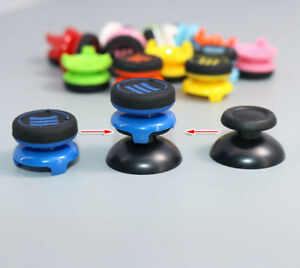 2PCS For Playstation PS4 Controller Rubber Extender Cap Thumbstick Grips Cover