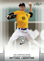 """MATTHEW LIBERATORE 2017 LEAF """"1ST EVER PRINTED"""" PERFECT GAME ROOKIE CARD!"""