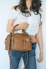 Michael Kors Ginger Small Duffle Satchel Pebbled Leather Shoulder Bag Luggage