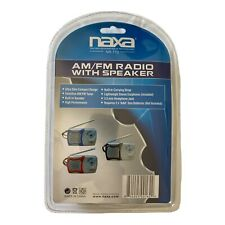 NAXA NR-712 AM/FM Radio With Speaker & Ear Buds Brand New in Blister Package