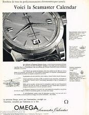 PUBLICITE ADVERTISING 085  1956  OMEGA  la montre  SEAMASTER CALENDAR