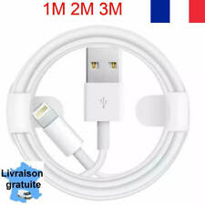CABLE IPHONE USB  1M 2M 3MRENFORCE CHARGEUR  POUR IPHONE