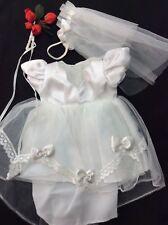 "8"" Doll Bride Dress Ginny, Wendy, Muffie, Cititoy, Madame Alexander"