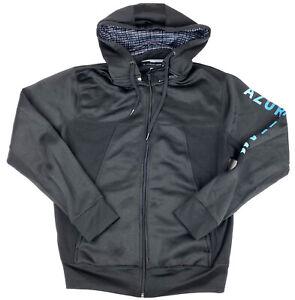Microsoft Azure Team Employee Sweatshirt Full Zip Hoodie Black Jacket Mens Small