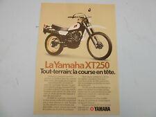 Yamaha XT250 1980 Dealer brochure