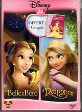 LA BELLE ET LA BETE / RAIPONCE - 2 DVD - QUIZ - Neuf sous blister