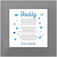 First 1st Fathers Day Personalised Gifts From Baby Poem Gifts For