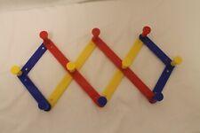 10 Peg Accordion Expandable FoldingPlastic children's Clothes Rack