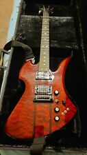 BC Rich Trans Red Mockingbird With Case