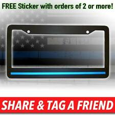 Thin Blue Line Reflective License Plate Frame