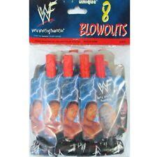 WWF WRESTLING Attitude Era BLOWOUTS (8) ~ Birthday Party Supplies Favors Vintage
