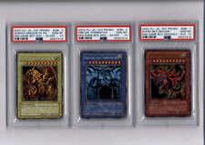 Yugioh Slifer Ra Obelisk Secret Rare God Card Set #GB1 1 2 3  PSA 10 GEM MINT