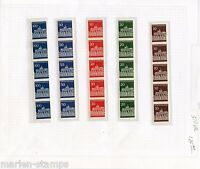 GERMANY MICHEL# 506vR-10vR MINT NEVER HINGED NUMBERED COIL STRIPS AS SHOWN