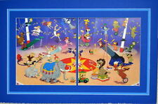 CIRCUS Of The STARS PRINT PROFESSIONALLY MATTED Hanna Barbera Scooby Phooey Fred