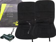 2x Beheizbare Sitzauflage Heizmatte12V 45W + Doppelstecker Zigarettenanzünder