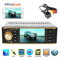 "4.1"" HD Headunit Mirror Link Autoradio Stereo Bluetooth 1 Din MP5 Player Camera"