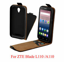 Premium Leather Flip Phone Case Cover Soft Holster Skin For ZTE Blade L110/A110