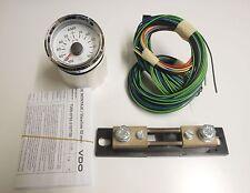 """VDO """" Viewline """" CHROME/blanc Ampèremètre affichage courant 100A"""