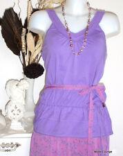 Esprit Jersey Top Long Shirt, key, violet, Xl 42 Coton Cotton NEUF