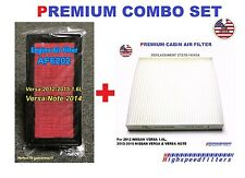 AF6202 Air Filter + Cabin Air Filter COMBO set for 2012 - 18 NISSAN VERSA & NOTE