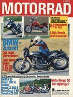 Motorrad 16/82 1982 BMW R80 ST RT R65 Hercules City Italjet Casual Guzzi V65 MBX