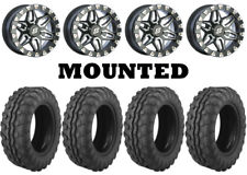 Kit 4 Moose 8-Ball 26x9-14 on Sedona Split Six Beadlock Machined Narrow 1KXP