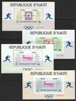 Haiti 1969 Sports Olympic Marathon Winners Sheets Set #616 VF-NH