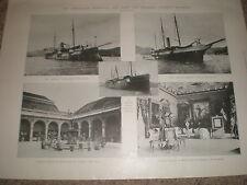 Printed photos Venezuela navy ships Bolivar General Crespo palace of Castro 1903