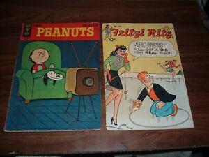 Peanuts lot of 14 comics-includes Peanuts 1,2, F.C. 1015, Fritzi Ritz 27 + more