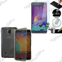Etui Coque Portefeuille Livre Samsung Galaxy Note 4 N910F + Films Verre Trempe