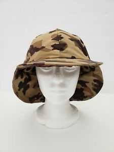 Orvis Insulated Camouflage Fishing Hunting  Camping Safari Brown Mens Hat  7-1/8