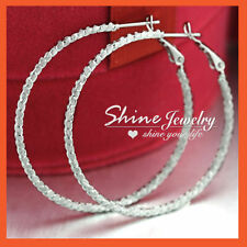 Alloy Hoop White Gold Filled Fashion Earrings